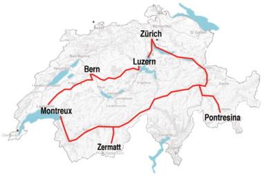escorted-grand-train-tour-of-switzerland-route