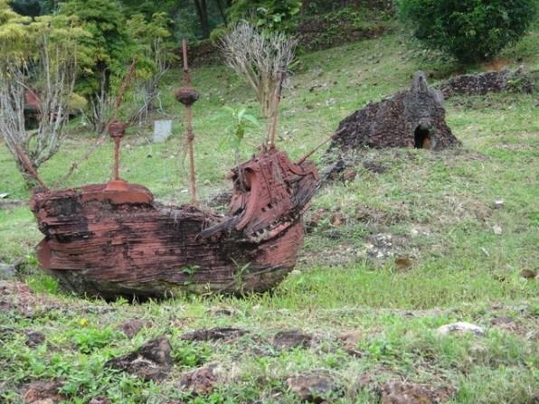 miniature ship on chinese hill Melaka