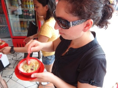 Tanya Eating The Famous Melaka Cendol