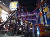 roller coaster in Berjaya Time Square shopping center in Kuala Lumpur