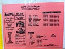 Cafe Little Angel Menu 1