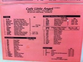 Cafe Little Angel Menu 2