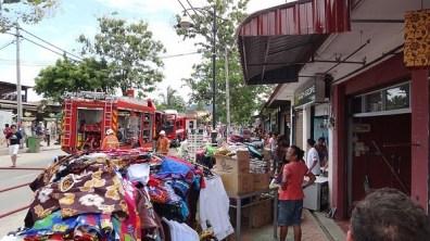 The fire at Pantai Cenang, Langkawi - removing the stock from shops