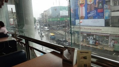 The view from V.L. Hotel's restaurant