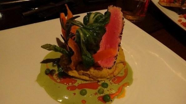 Sesame Crusted Seared Saku Tuna @ Red Snapper Restaurant