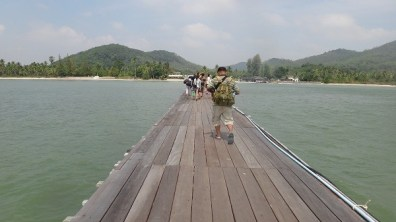 Arriving at Chumphon Pier