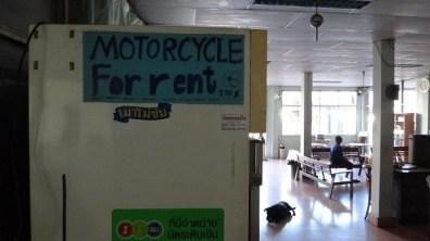 Phetkasem Hotel also rents motorbikes cheaply