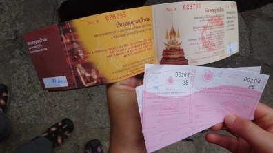 The Gold Plated Tickets we received