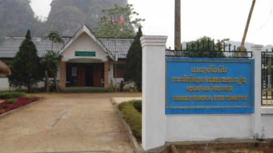 Vieng Xai - Viengxay Memorial Sites Committee Building