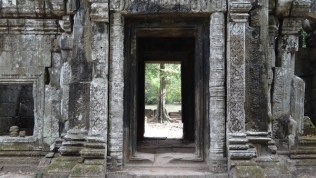 Looking Outside At Angkor