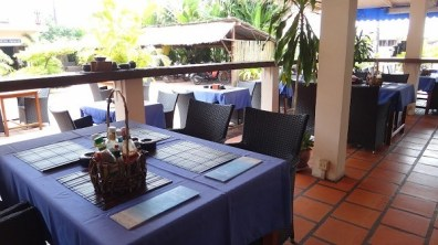 Beach Club Resort Sihanoukville - Restaurant Tables With Power Points Close By