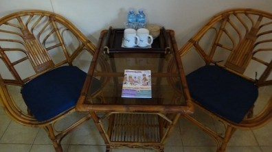 Beach Club Resort Sihanoukville - Superior Poolside Room - Dining Area with Cups, Stocked Daily Tea and Coffee, Free Water