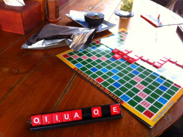 Playing Scrabble In Sihanoukville, Cambodia