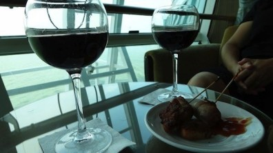 Concierge Lounge - Red Wine and Hor d'oeuvres