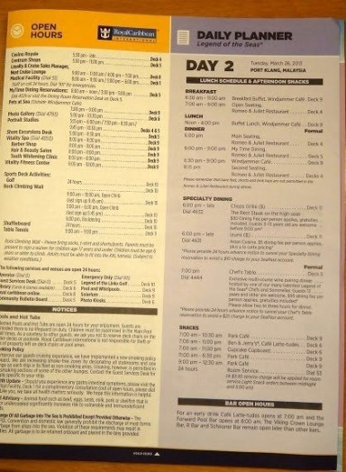 Cruise Compass Day 2 - Page 3