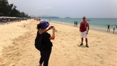 Karon Beach, Phuket, Tanya Being Photographer For Christian