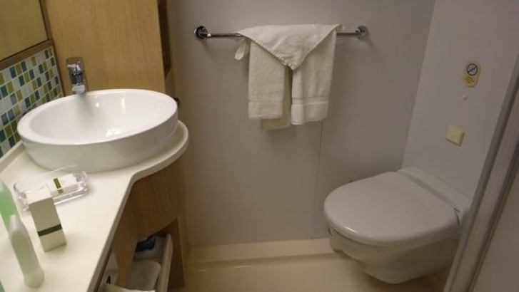 Oceanview Stateroom - Toiletries and Toilet