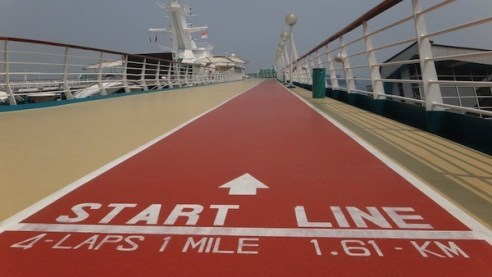 Running Track on Royal Caribbeans Legends Of The Sea Ship