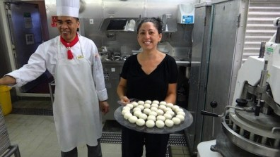 Tanya Making Bread Rolls For The Guests