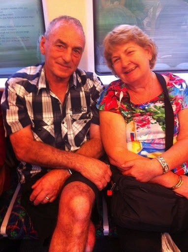 Mum And Dad On The Train To Perth