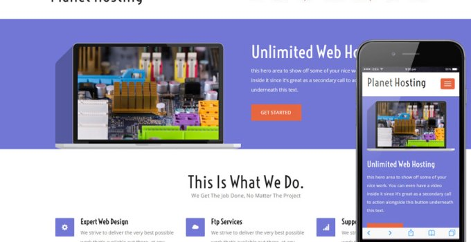 17 Free Responsive Web Hosting Templates for Resellers 1