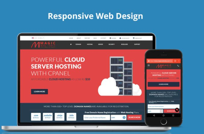 responsive web design trend by Magic Web