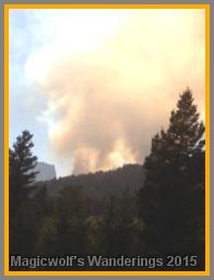 The smoke was starting to get darker.