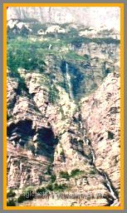 Mountain waterfall.