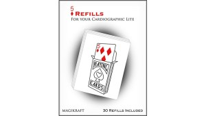 Cardiographic Lite RED CARD 5 of Diamonds Refill by Martin Lewis - Trick