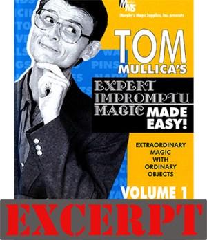 Karrel Fox's Napkin Vanish video DOWNLOAD (Excerpt of Mullica Expert Impromptu Magic Made Easy Tom Mullica- #1, DVD)