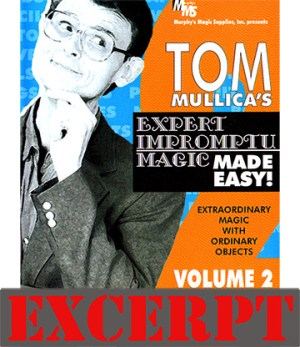 The Indian Bean Mystery video DOWNLOAD (Excerpt of Mullica Expert Impromptu Magic Made Easy Tom Mullica- #2, DVD)