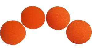 1.5 inch HD Ultra Soft Orange Sponge Ball Set of 4 from Magic by Gosh