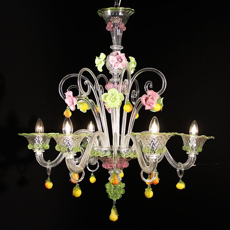 Lampadari di murano classici in vetro di murano soffiato: Colorado Lampadario Murano Cerchi Un Lampadario Colorato Eccolo