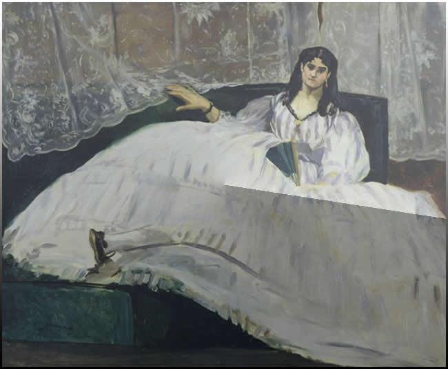 Έργο του 1862 του Εδουάρδου Μανέ αποδιδόμενο ως προς το μοντέλο, στη Ζαν Ντυβάλ σύντροφο του ποιητή Κάρουλου Μπωντλέρ