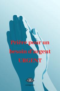 Prière pour un besoin d'argent URGENT