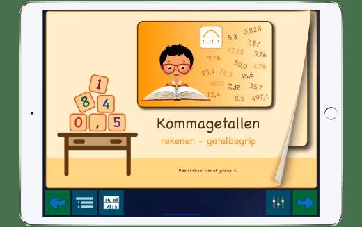Bekijk de promotiefilm over onze app met kommagetallen.