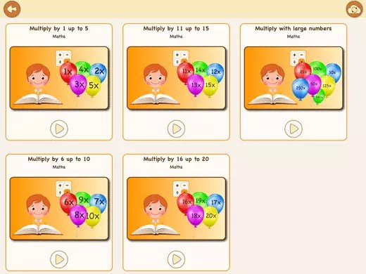 Chose out of five exercises booklets to practice all multiplication times tables 1-500