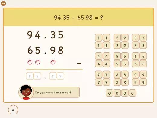 How to subtract decimals?