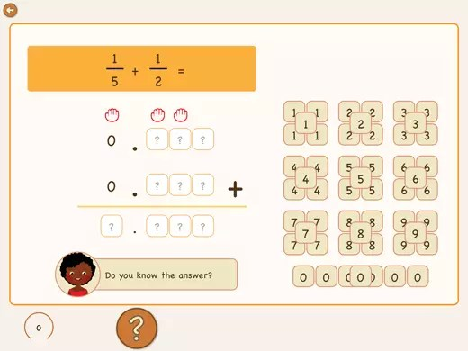 Learn to add fractions with decimals.