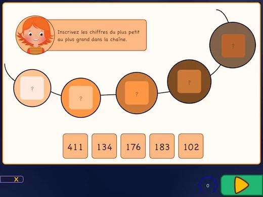 Dans ces exercices, vous voyez plusieurs briques avec des points d'interrogation à l'écran.
