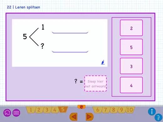 Oefenen van splitsen met getallen tot 20.
