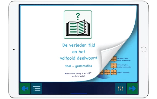 Ontdek hier hoe je werkwoorden kan leren vervoegen op je iPad.
