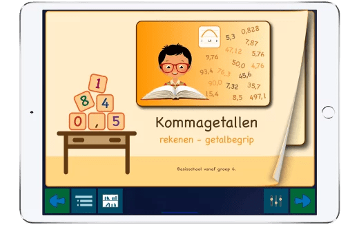 Bekijk hier oefenen met kommagetalen met deze app.