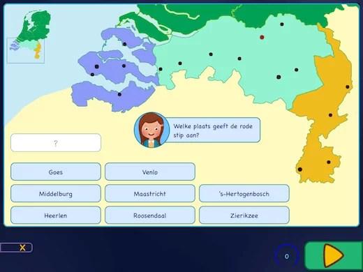 Leer de topografie van de Nederlandse steden en plaatsen.