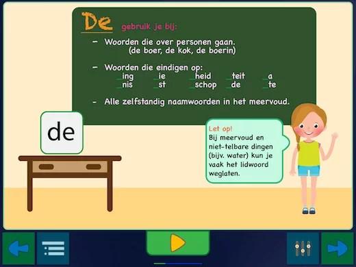 Uitleg of het gebruik van de lidwoorden in het Nederlands