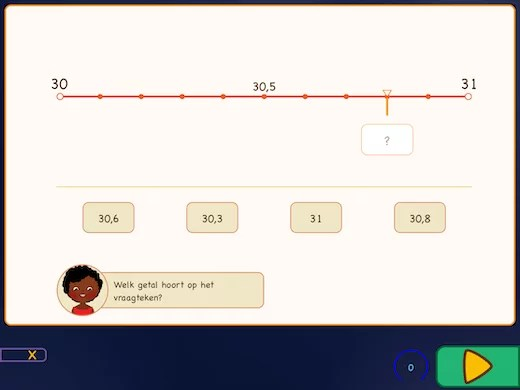 Met deze oefening leer je getallen met decimalen plaatsen op de getallenlijn.