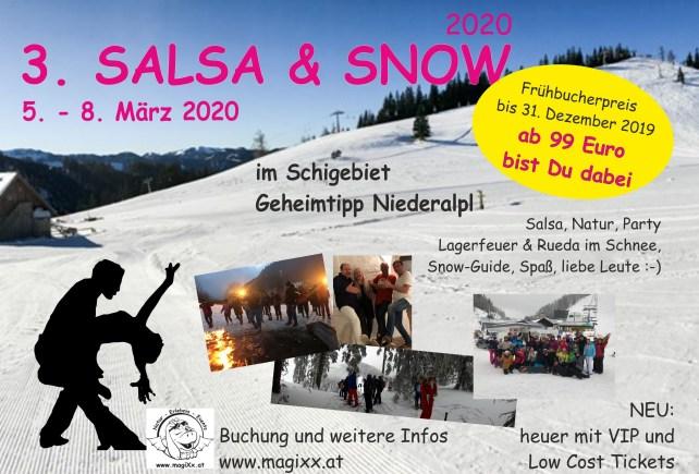 Salsa and Snow 2020 Flyer