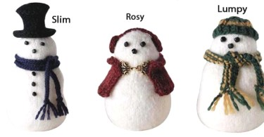 I pupazzi di neve a maglia