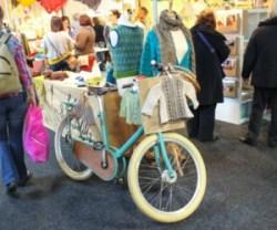 La bicicletta di Ysolda usata per lo stand