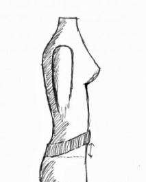 Il davanti del pullover risulta più corto una volta indossato